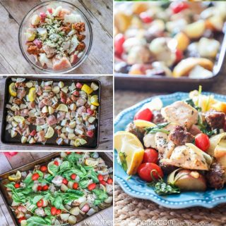 Chicken + Chorizo Sheet Pan Dinner