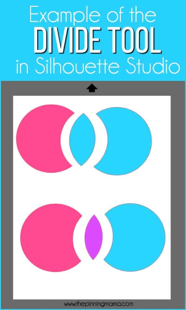 Example of using the Divide Tool in Silhouette Studio.