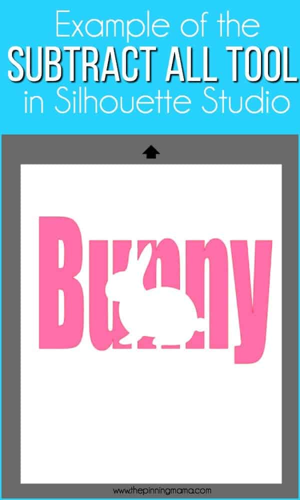 Example of the Subtract All Tool in Silhouette Studio.