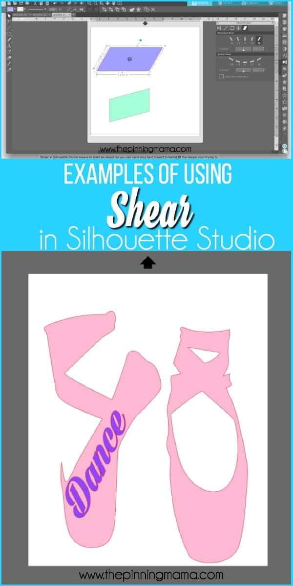 Examples of using the Shear Feature in Silhouette Studio.