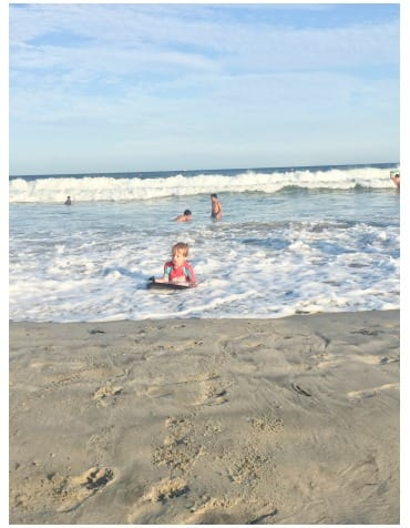 Narragansett Beach is a great place for boogie boarding and building sand castles.