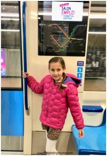 Riding the Metro in Montréal Canada.