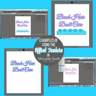 What is Offset and how to use it in Silhouette Studio {Silhouette Bootcamp Lesson 17}