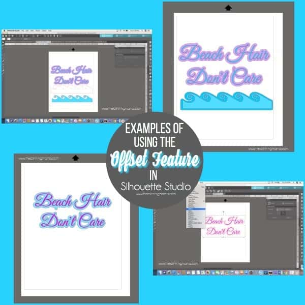 Examples of using the Offset feature in Silhouette Studio.