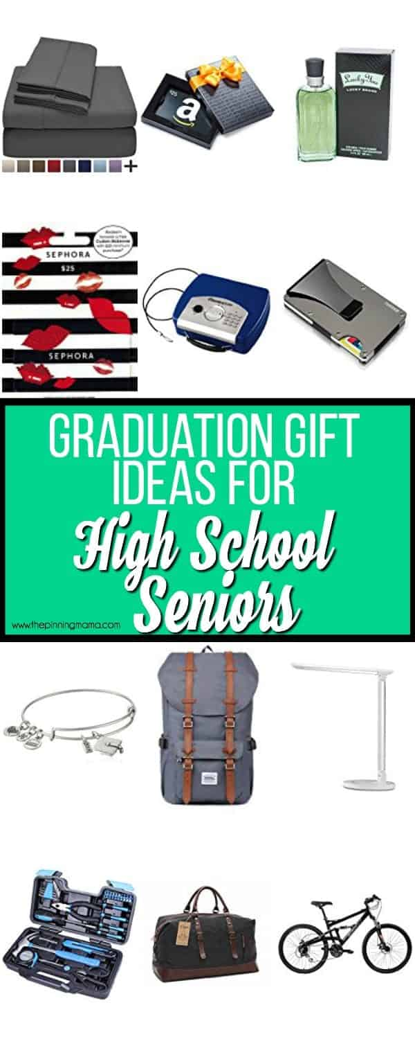 The BIG list of gift ideas for High School Seniors.