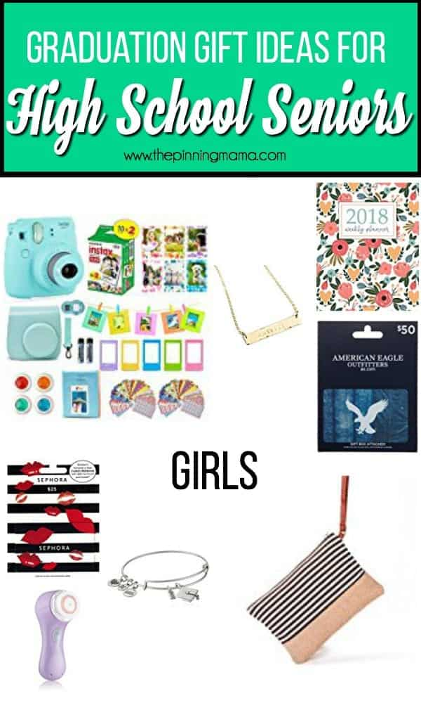 Graduation gift ideas for high school senior girls.