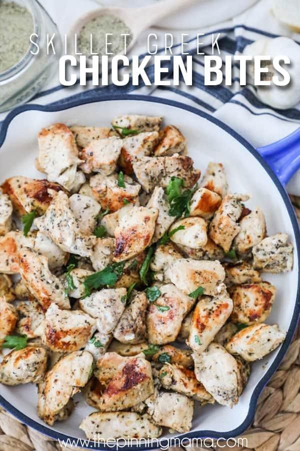 FAVORITE Greek Chicken Bites Recipe