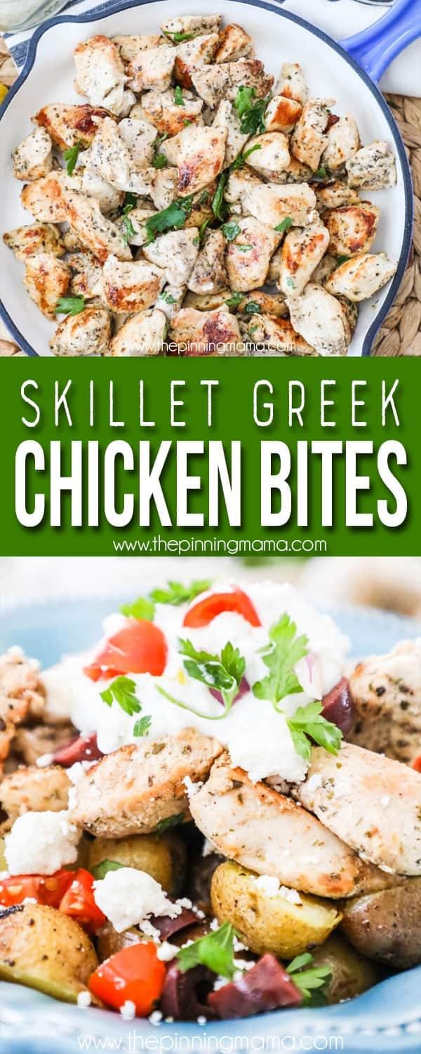 BEST Greek Chicken Bites