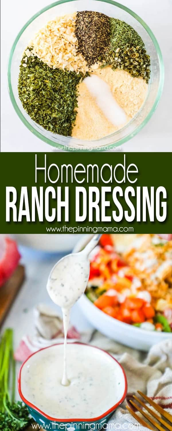 The BEST Homemade Ranch Dressing
