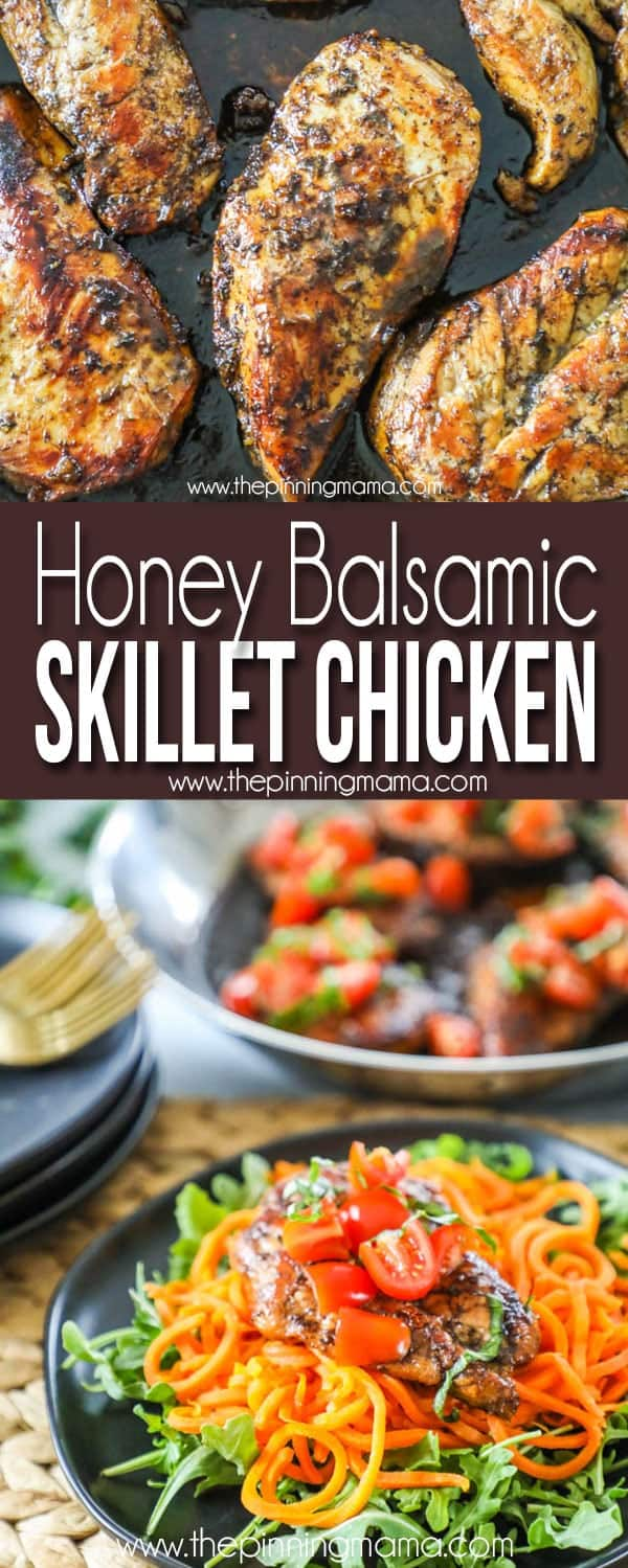 the BEST Honey Balsamic Chicken recipe - Perfect Easy dinner idea!