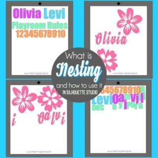 What is Nesting and how to use it Silhouette Studio {Silhouette Bootcamp Lesson 13}