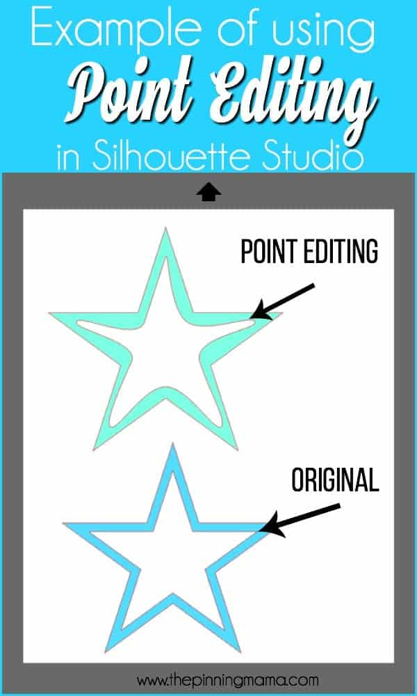 Example of using Point Editing in Silhouette Studio.
