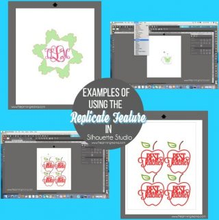 What is Replicate and how to use it in Silhouette Studio {Silhouette Bootcamp Lesson 16}