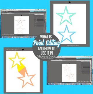 What is Point Editing and how to use it in Silhouette Studio {Silhouette Bootcamp Lesson 14}