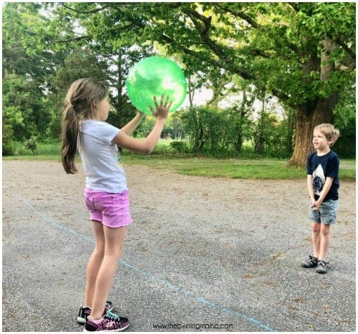 Beach Ball toss game for school parties.