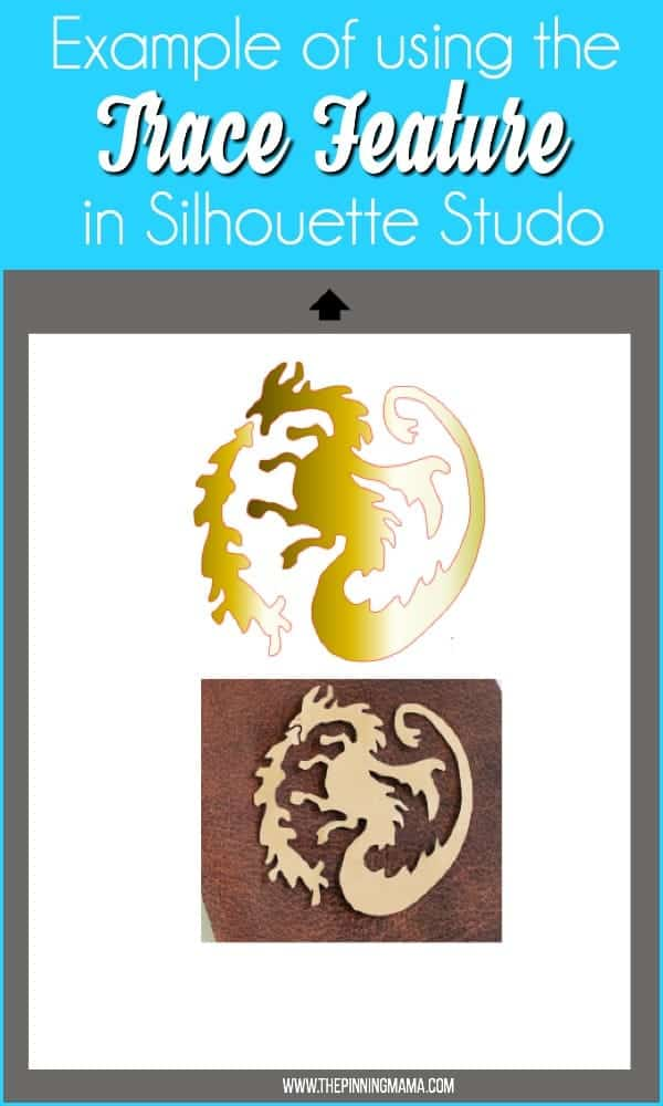 Example of using the Trace Feature in Silhouette Studio.