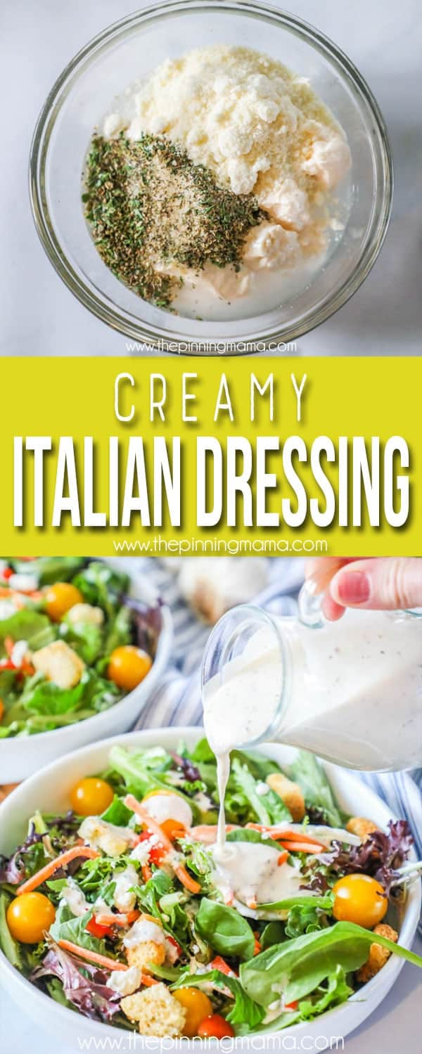 The BEST Homemade Italian Dressing - Creamy and Delicious!