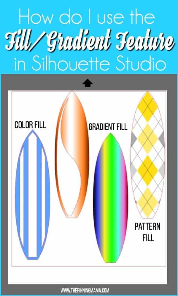 How do I use the Fill/Gradient feature in Silhouette Studio.