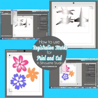 How to use Registration Mark for Print and Cut in Silhouette Studio.