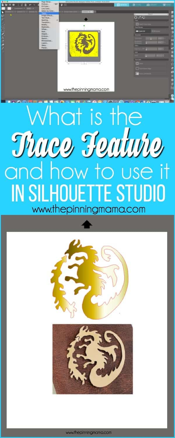 What is the trace feature and how to use it in Silhouette Studio.