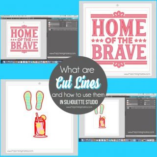 Cut lines Explanation and Types in Silhouette Studio. {Silhouette Bootcamp Lesson 25}