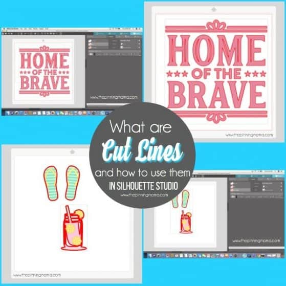 What are Cut Lines and how house them in Silhouette Studio.
