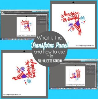 How to use the Transform Panel in Silhouette Studio. {Silhouette Bootcamp Lesson 22}