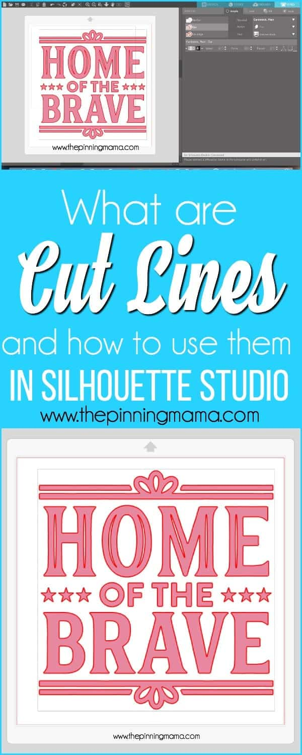 What are Cut Lines and how to use them in Silhouette Studio.