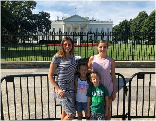 Touring the White House with kids.
