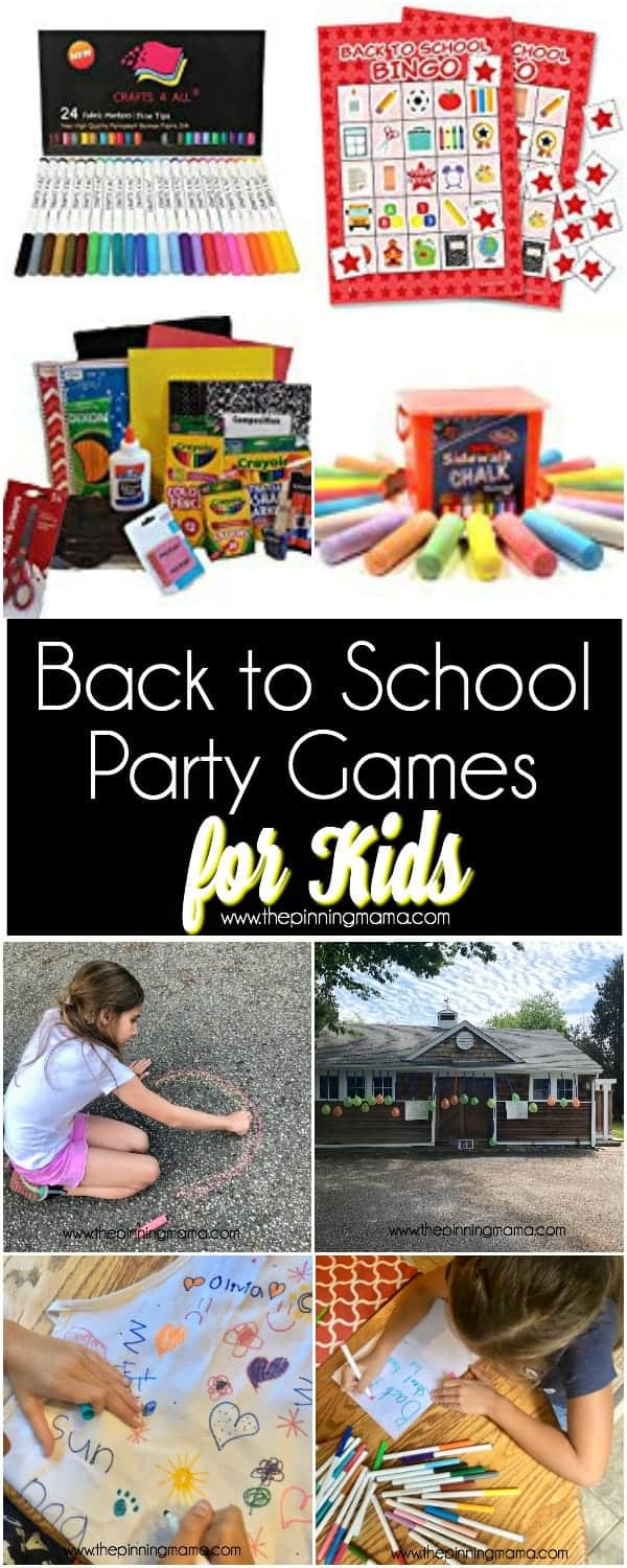 The Big List of Back to School Party Games for Kids.