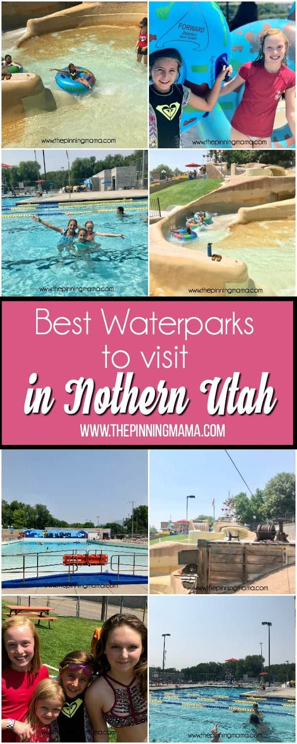 Big List of Best Waterparks to visit in Northern Utah with Kids.