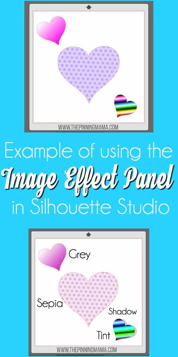 Example of using Image Effect Panel in Silhouette Studio.