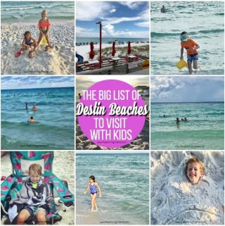 The Big List of Destin Beaches to visit for Kids