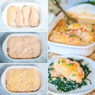 Creamy Chicken Enchilada Casserole recipe