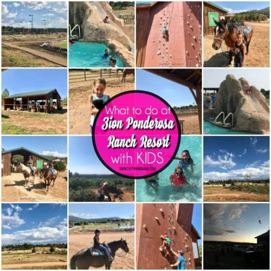 What to do at Zion Ponderosa Ranch Resort with KIDS.
