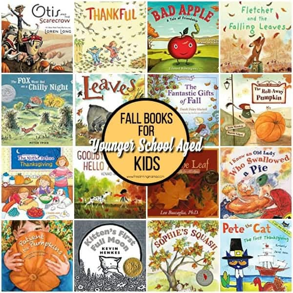 The Big List of Fall Books for younger school aged kids.