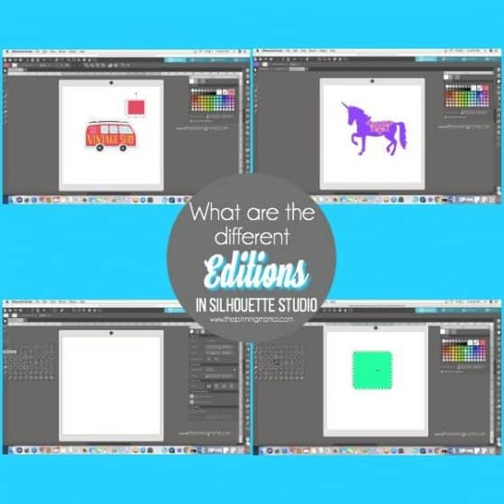 What are the different editions in Silhouette Studio.