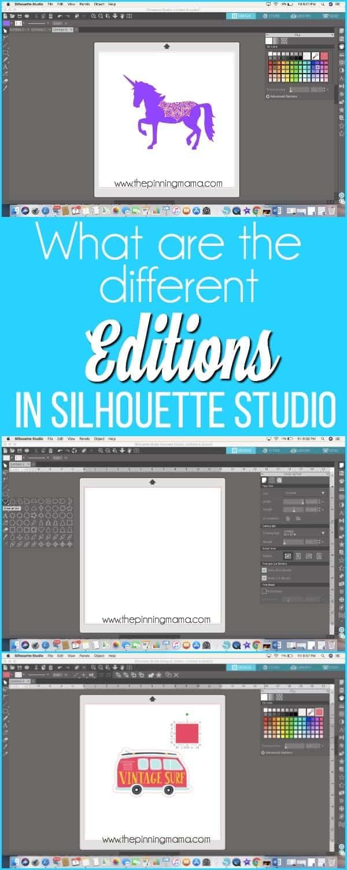 Editions in Silhouette Studio.