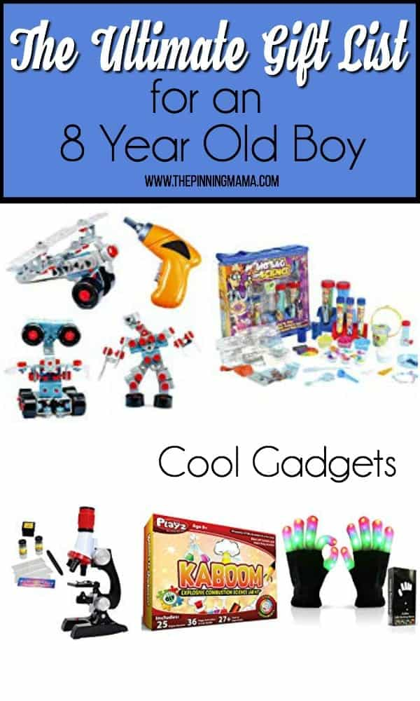 The ultimate gift list for an 8 year old boy, cool gadgets