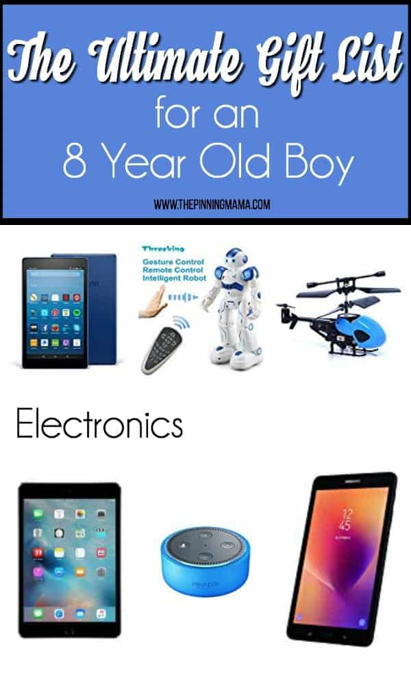 The big list of gift ideas for an 8 year old boy, electronics.