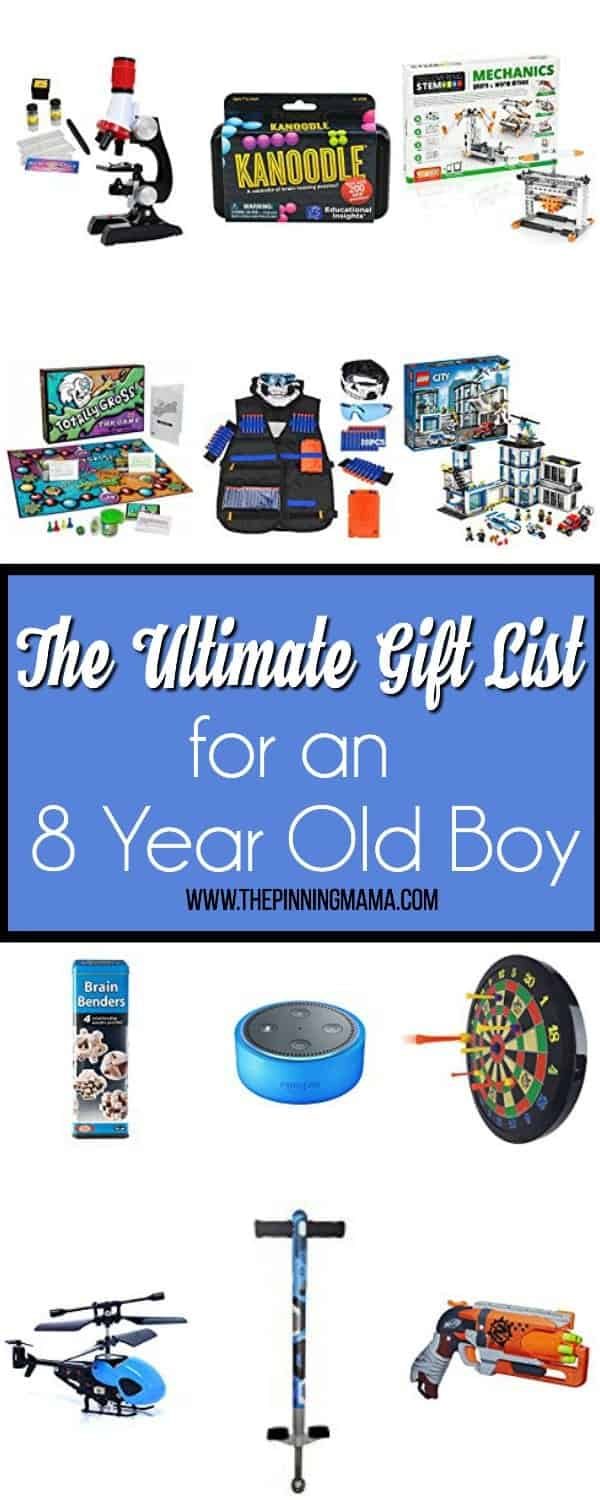 The Ultimate Gift List for an 8 Year Old Boy