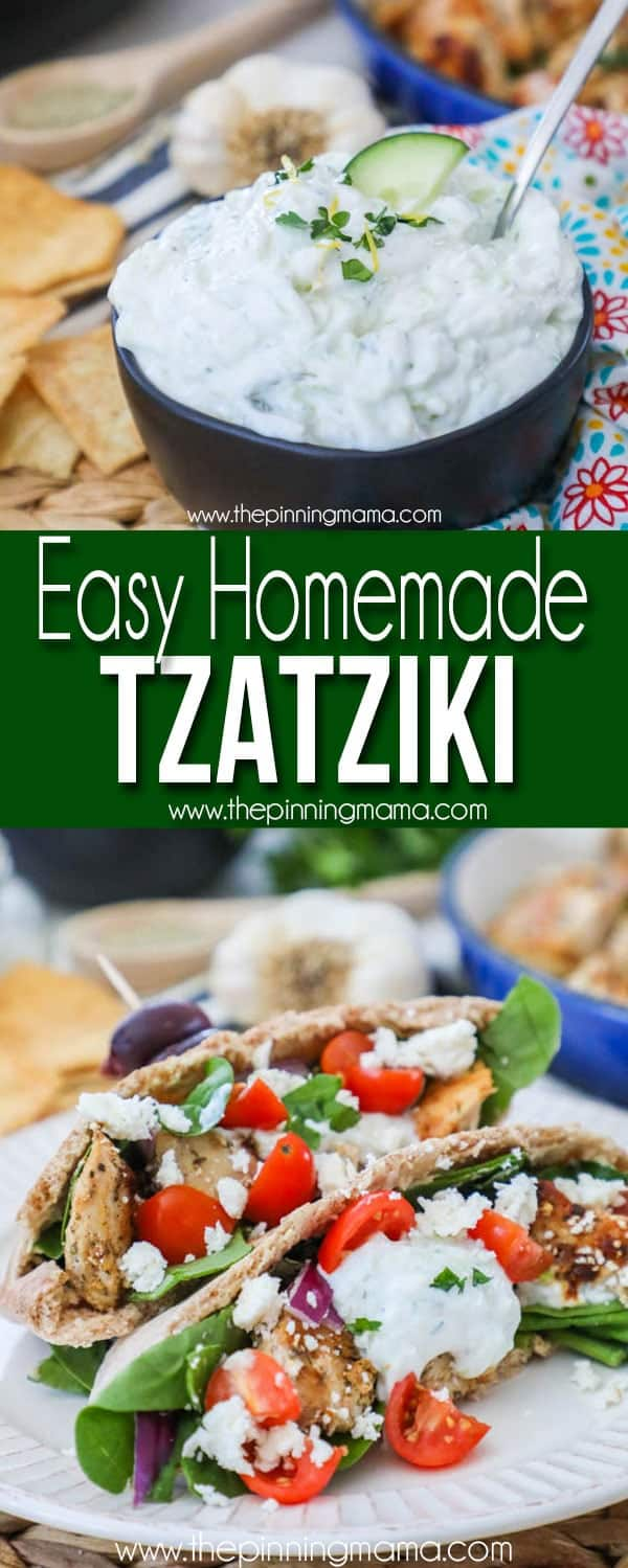 Easy Homemade Tzatziki sauce- Perfect for Greek dip or dishes
