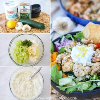 Greek yogurt Tzatziki sauce- Step by step