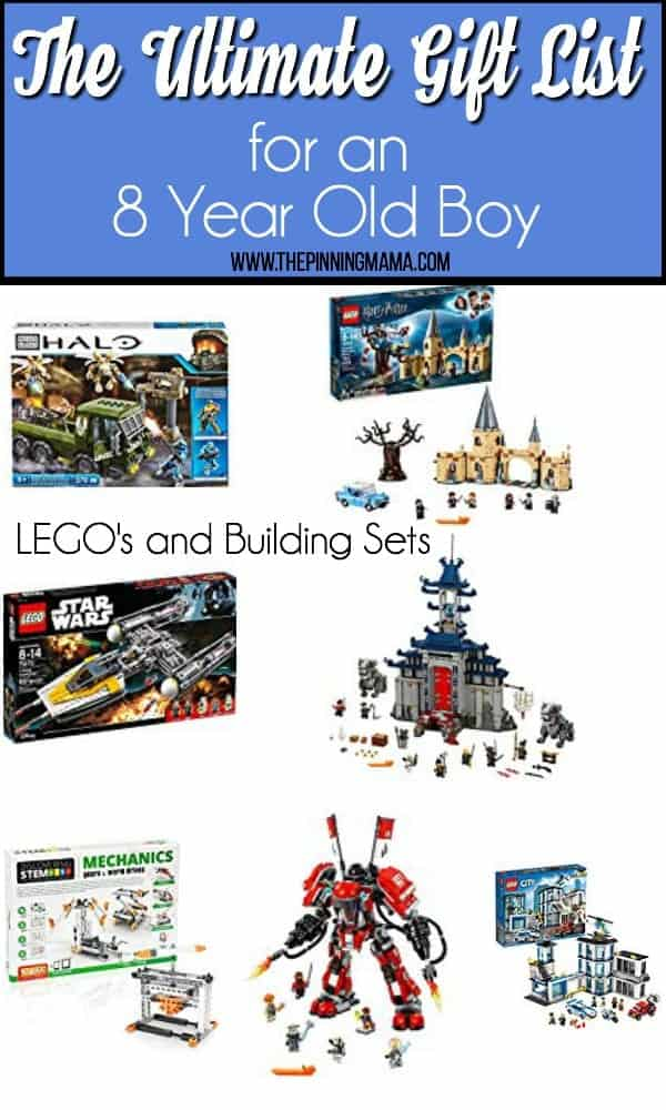 Gift guides of Lego's and Building Sets for an 8 year old boy