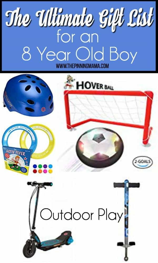 The Ultimate Gift List for an 8 year old boy, outdoor play