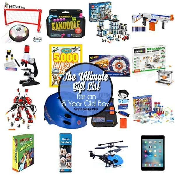The Ultimate Gift List for an 8 Year Old Boy.