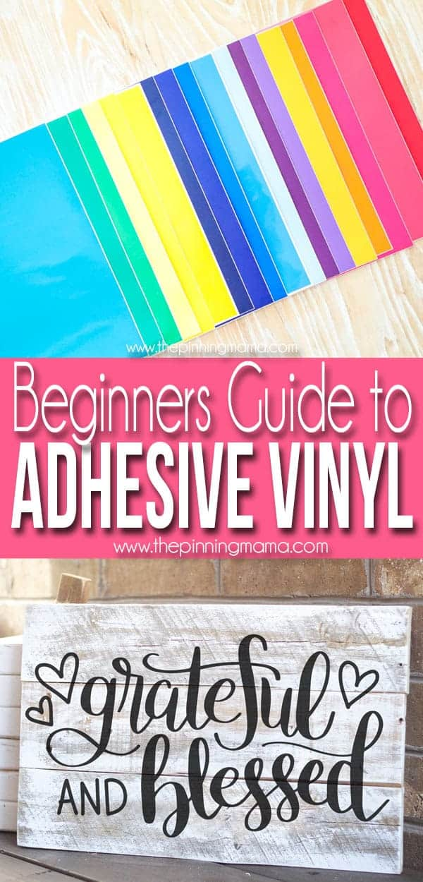 Where to Buy Vinyl for Silhouette CAMEO • The Pinning Mama