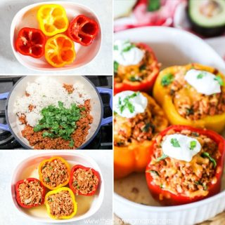 Best Mexican Stuffed Peppers step by step picture instructions