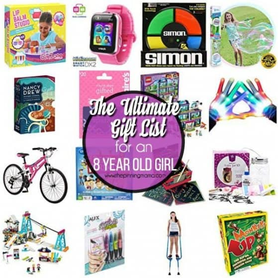 The ultimate gift list for an 8 year old girl.