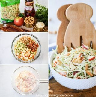 Ingredients used for Whole30 Broccoli Slaw